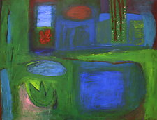 The New Green Wood by Heidi Daub (Acrylic Painting)