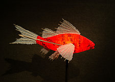 Prosperity Koi Lamp by Lara Fisher (Mixed-Media Lamp)