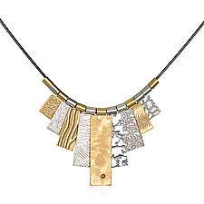 Black/Gold/Silver Multi-Tab Necklace by Suzanne Q Evon (Gold & Silver Necklace)