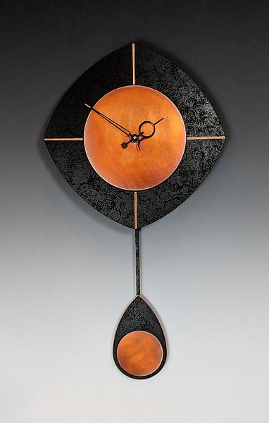 Black Amp Copper L Drop Pendulum Clock By Leonie Lacouette