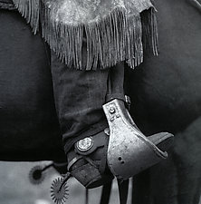 Boot and Spur by Adam Jahiel (Black & White Photograph)