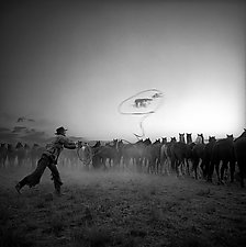 Roping a Cloud by Adam Jahiel (Black & White Photograph)