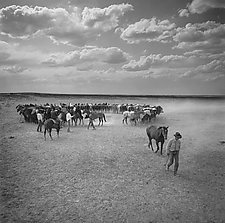 Part of His String by Adam Jahiel (Black & White Photograph)