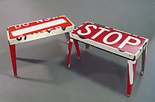 Rest Stop Bench by Boris Bally (Metal Bench)