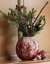 Wisteria Disk by Mark Rosenbaum (Art Glass Vase)