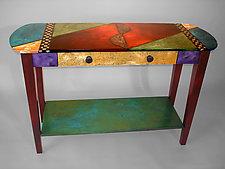Oval Sofa Table by Wendy Grossman (Wood Table)