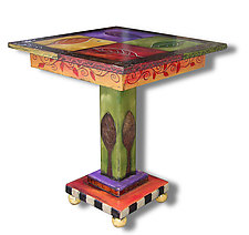 Four Leaf End Table by Wendy Grossman (Wood Side Table)