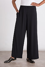Matte Jersey Wide Leg Pants by Planet   (Knit Pant)