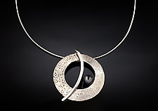 The Balance Orbit Necklace by Chi Cheng Lee (Silver & Stone Necklace)