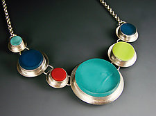 Six Circles Necklace by Amy Faust (Art Glass Necklace)