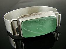 Coke Bottle Cuff Bracelet by Amy Faust (Art Glass Bracelet)