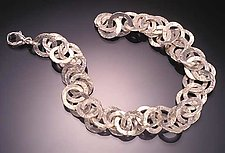 Sterling Link Bracelet by Ken Loeber and Dona Look (Silver Bracelet)