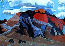 Hill Near Ghost Ranch by Bruce Klein (Acrylic Painting)