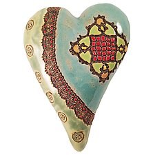 Sally's Pattern by Laurie Pollpeter Eskenazi (Ceramic Wall Sculpture)