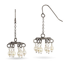 Chandelier Earrings by Randi Chervitz (Silver & Pearl Earrings)