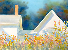Uphill Garden II by Suzanne Siegel (Watercolor Painting)