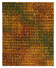 Olivine Grid, Texture Series by Tim Harding (Fiber Wall Hanging)