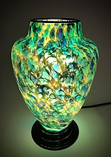 Green and Blue Lamp by Curt Brock (Art Glass Table Lamp)
