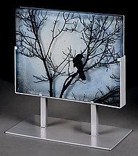 Blackbird by Paul Messink (Art Glass Sculpture)