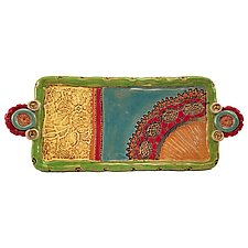 Esperanza Medium Tray by Laurie Pollpeter Eskenazi (Ceramic Tray)
