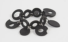 Lydia Bracelet by Kathleen Nowak Tucci (Steel & Rubber Bracelet)
