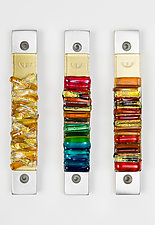 Summer Tone Mezuzah by Alicia Kelemen (Art Glass Mezuzah)