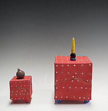 Red Box by Vaughan Nelson (Ceramic Box)