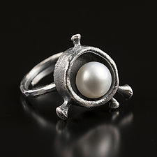 Rosehip Mood Ring by Aleksandra Vali (Silver & Stone Ring)