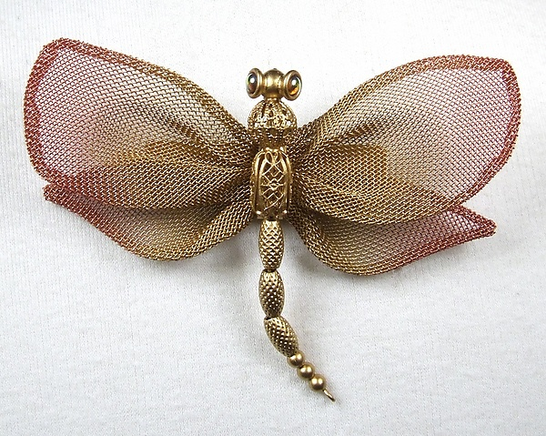 Large Dragonfly with Coarse Mesh Wings & Bead Body