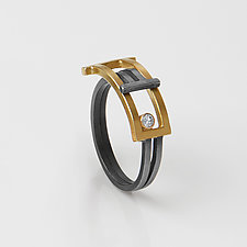 Foldover Ring by Hilary Hachey (Gold & Silver Ring)