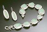 Bracelet & Earrings by Amy Faust (Silver & Glass Earrings & Bracelet)