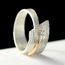 Circle of Love Ring by Dagmara Costello (Gold, Silver & Stone Wedding Band)