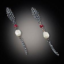 Bumpy Pearl Earrings by Dahlia Kanner (Silver & Pearl Earrings)
