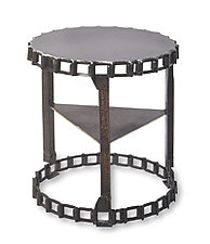 Drag Chain Side Table by Ben Gatski and Kate Gatski (Metal Side Table)