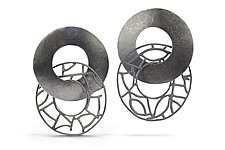 Freewheeler by Beverly Tadeu (Silver Earrings)
