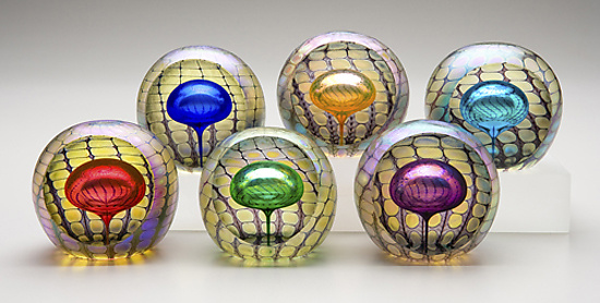 Faceted Reptilian Round Paperweights