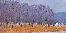 Blue Trees at Roadside by Ken Elliott (Giclee Print)