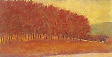 Red Tree Line by Ken Elliott (Giclee Print)