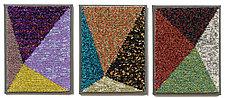 Crossroads Triptych by Marilyn Henrion (Fiber Wall Art)