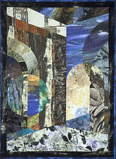 Byzantium XI (Traces) by Marilyn Henrion (Fiber Wall Hanging)