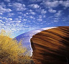 Dune, Melting Snow by Will Connor (Color Photograph)
