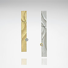 Asymmetrical Earrings by Keiko Mita (Gold, Silver, Palladium &Stone Earrings)