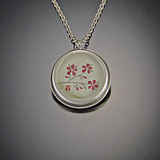 Round Plum Blossom Necklace by Ananda Khalsa (Silver Necklace)