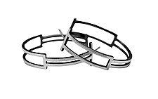 Box Hoops by Hilary Hachey (Silver Earrings)