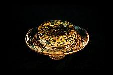 Ikebana Bowl (Transparent Lime) by Danielle Blade and Stephen Gartner (Art Glass Vase)
