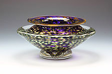 Ikebana Bowl (Transparent Amethyst) by Danielle Blade and Stephen Gartner (Art Glass Vase)