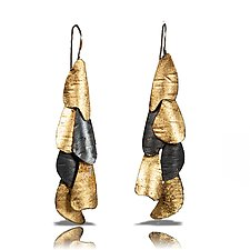 Curly Bark Earrings by Lori Gottlieb (Gold & Silver Earrings)