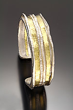 Narrow Cuff 1 by Sana  Doumet (Gold & Silver Bracelet)