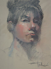 Portrait of Prue by Cathy Locke (Pastel Painting)