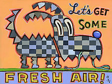 Let's Get Some Fresh Air! by Hal Mayforth (Giclée Print)